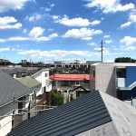 こもれびハウス / 夏空と屋根