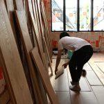 こもれびハウス / 床板の景色