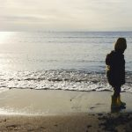 家族で冬の海へ