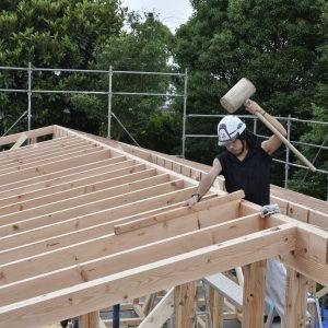馴染む家 / 建て方